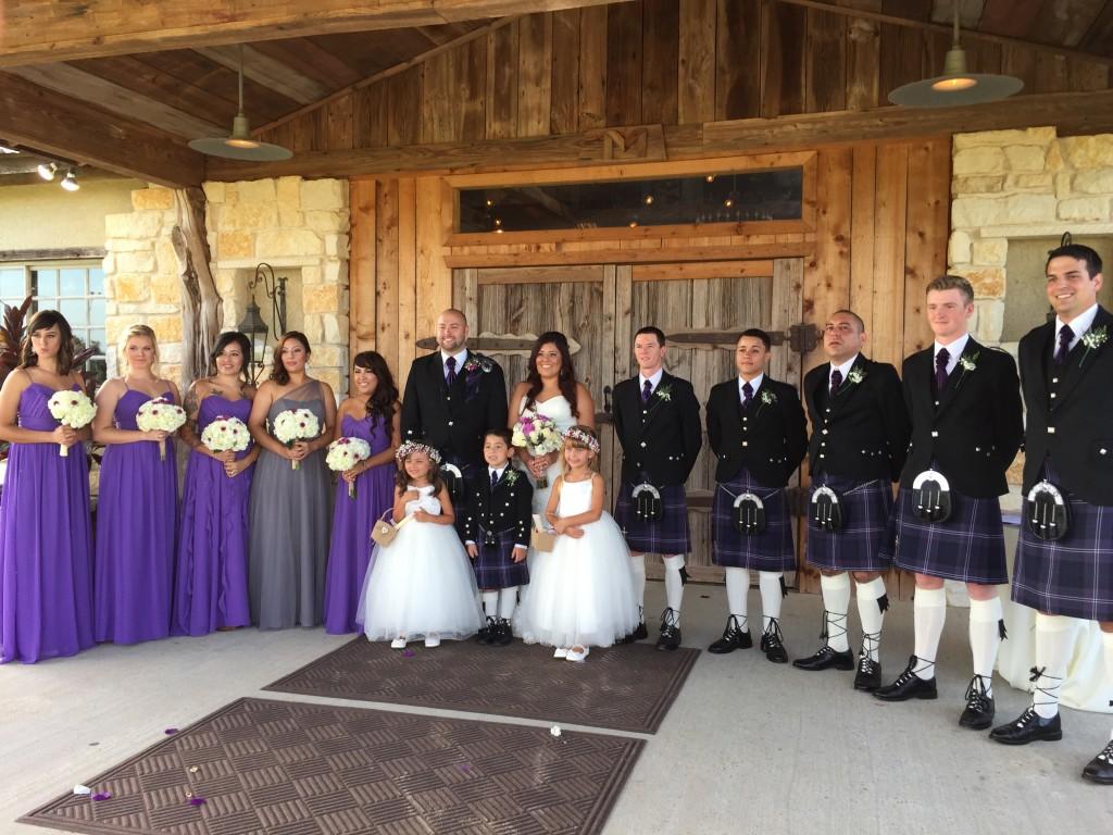 Image of scottish wedding